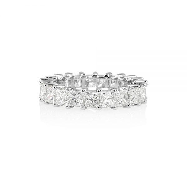Lara Princess Cut Diamond Eternity Ring-0