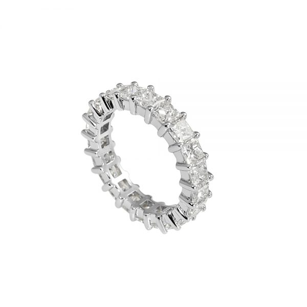 Lara Princess Cut Diamond Eternity Ring-1996