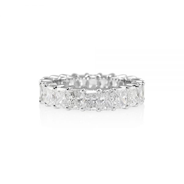 Lara Radiant Cut Diamond Eternity Ring-0