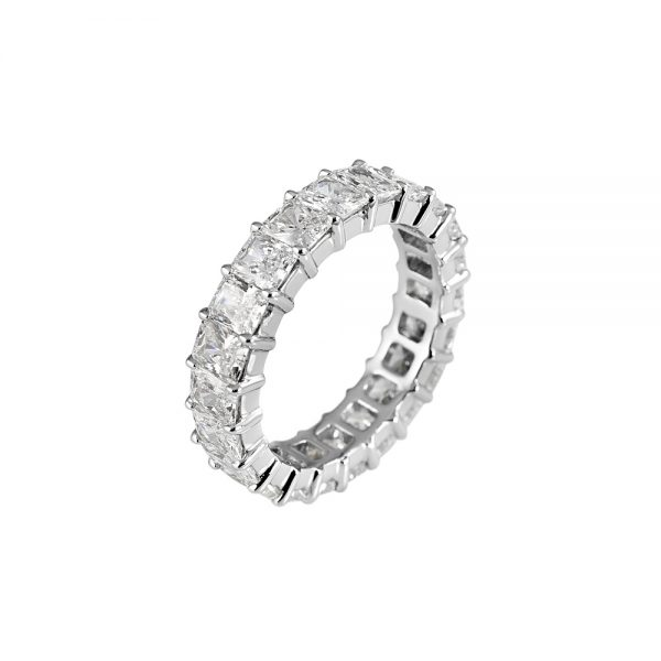 Lara Radiant Cut Diamond Eternity Ring-1998
