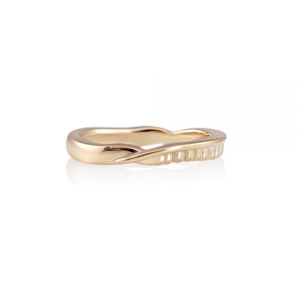 Liv Fossil Inspired Wedding Ring-0