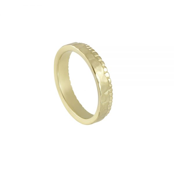 Mathew Fossil Inspired Men's Wedding Ring-2003