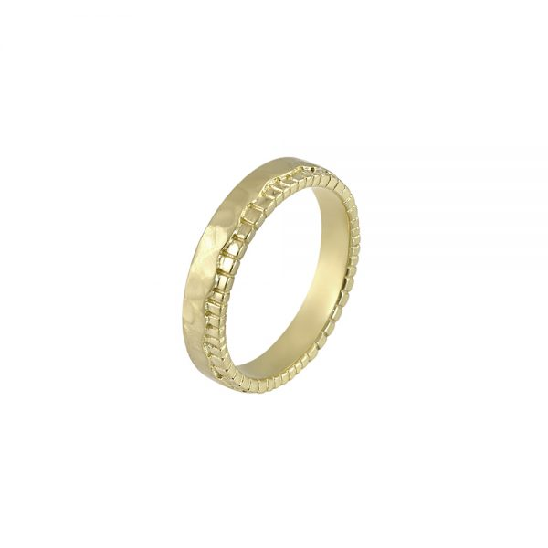 Mathew Fossil Inspired Men's Wedding Ring-2004
