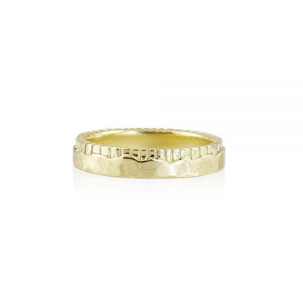 Mathew Fossil Inspired Men's Wedding Ring-0