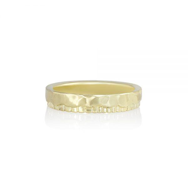 Mathew Fossil Inspired Men's Wedding Ring-2002