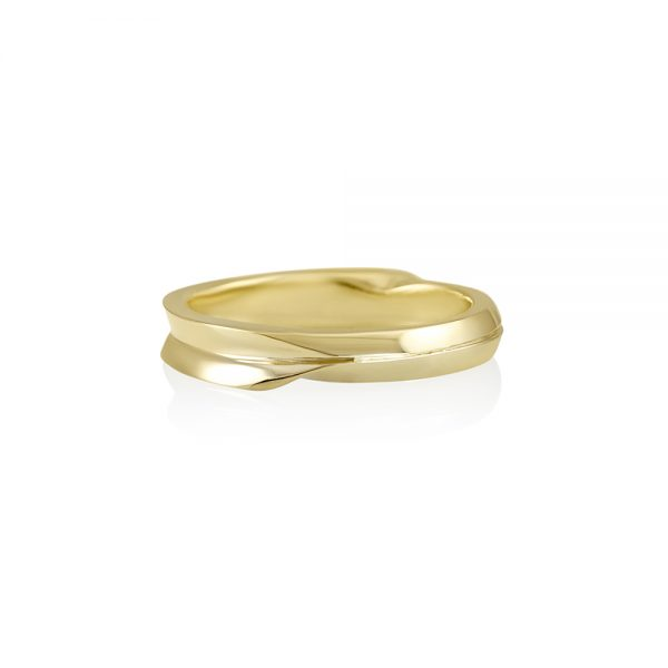 Nate Hand Carved Double Mobius Men's Wedding Ring-0