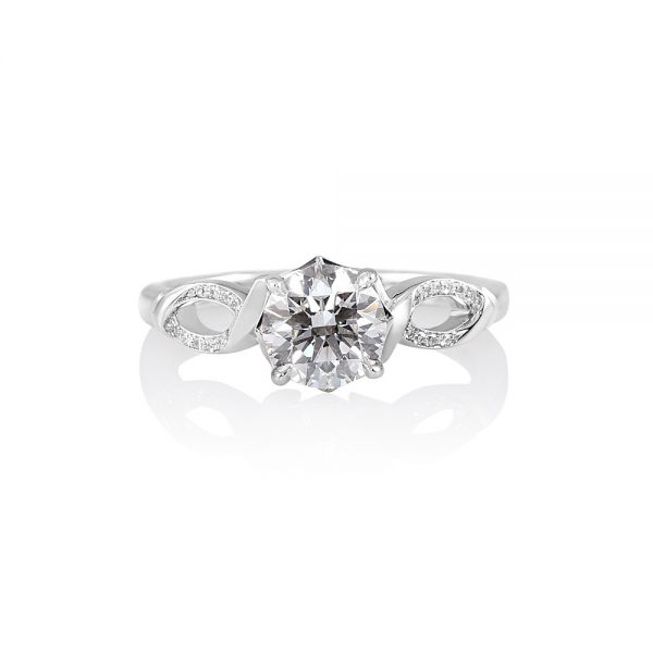 Cindy Romantic Diamond Engagement Ring-0