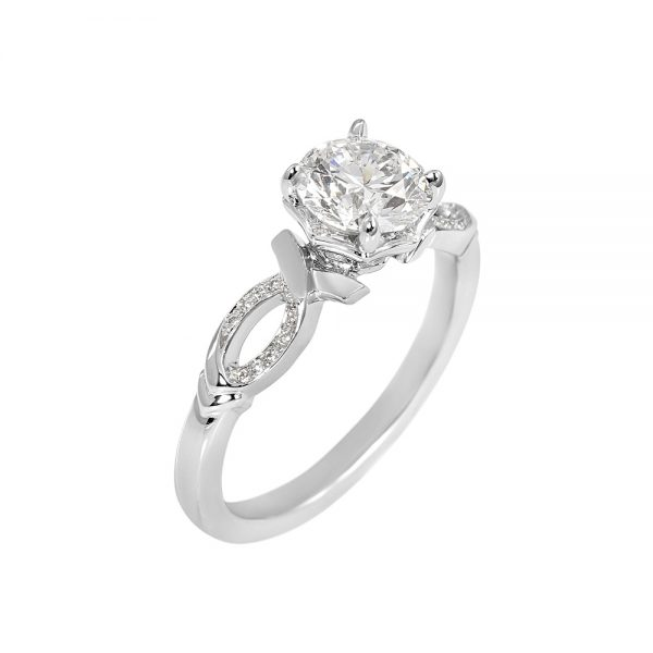 Cindy Romantic Diamond Engagement Ring-2064