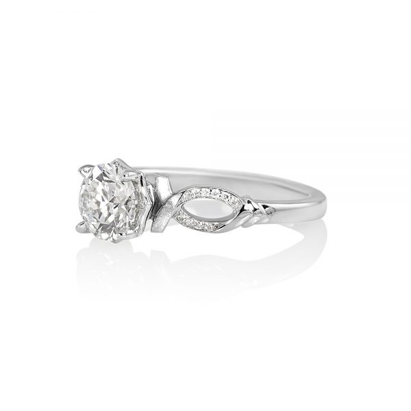 Cindy Romantic Diamond Engagement Ring-2062