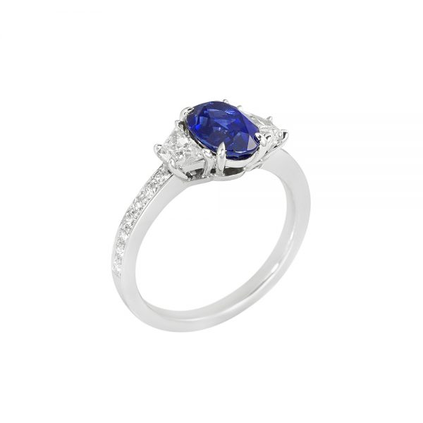 Audra Sapphire and Diamond Engagement Ring-2055