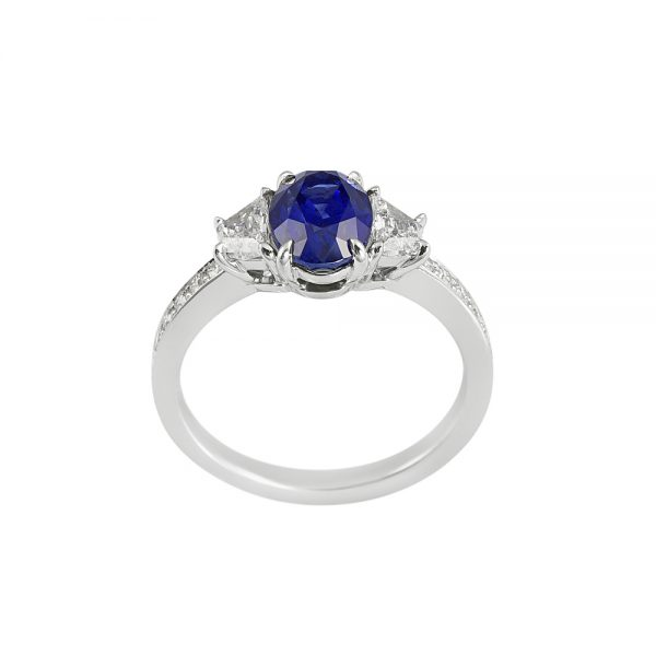 Audra Sapphire and Diamond Engagement Ring-2054