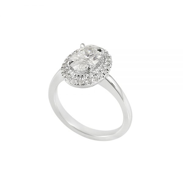 Brittany Oval Diamond Halo Engagement Ring-2049