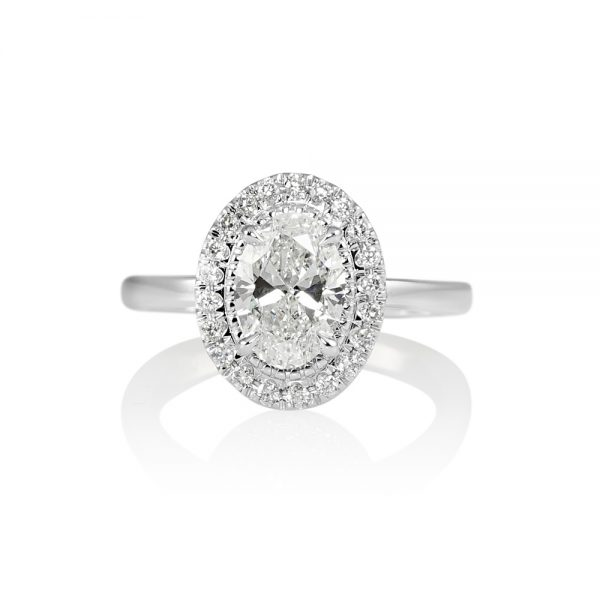 Brittany Oval Diamond Halo Engagement Ring-0