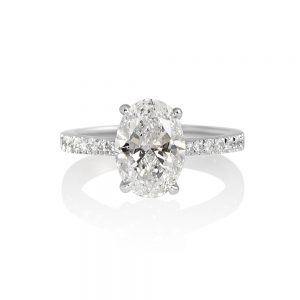 Juliana Oval Diamond Engagement Ring-0