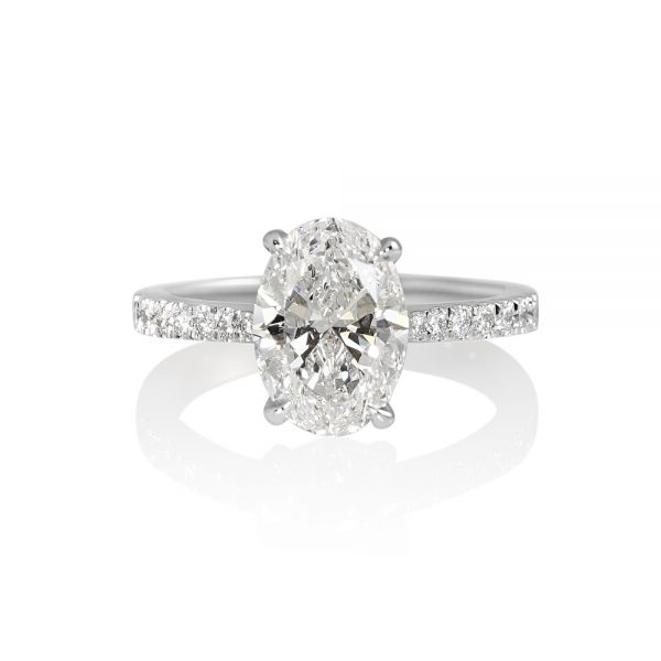 Juliana Oval Diamond Engagement Ring-0