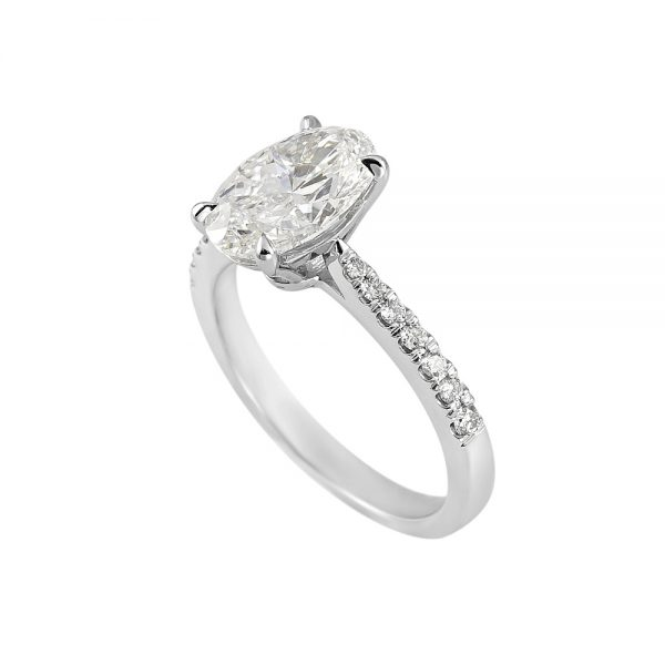 Juliana Oval Diamond Engagement Ring-2070