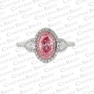 Argyle Pink Diamond and Colorless Diamond Ring-0
