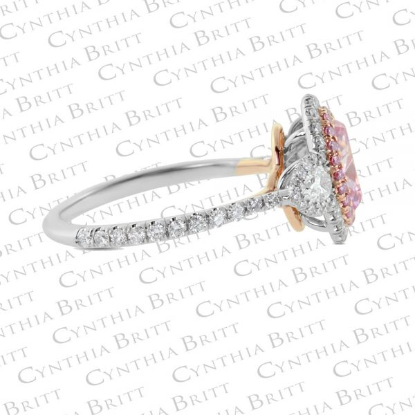 Argyle Pink Diamond and Colorless Diamond Ring-2040