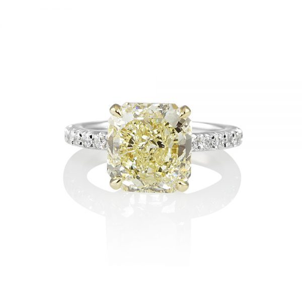 Tegan Fancy Yellow Diamond Engagement Ring-0