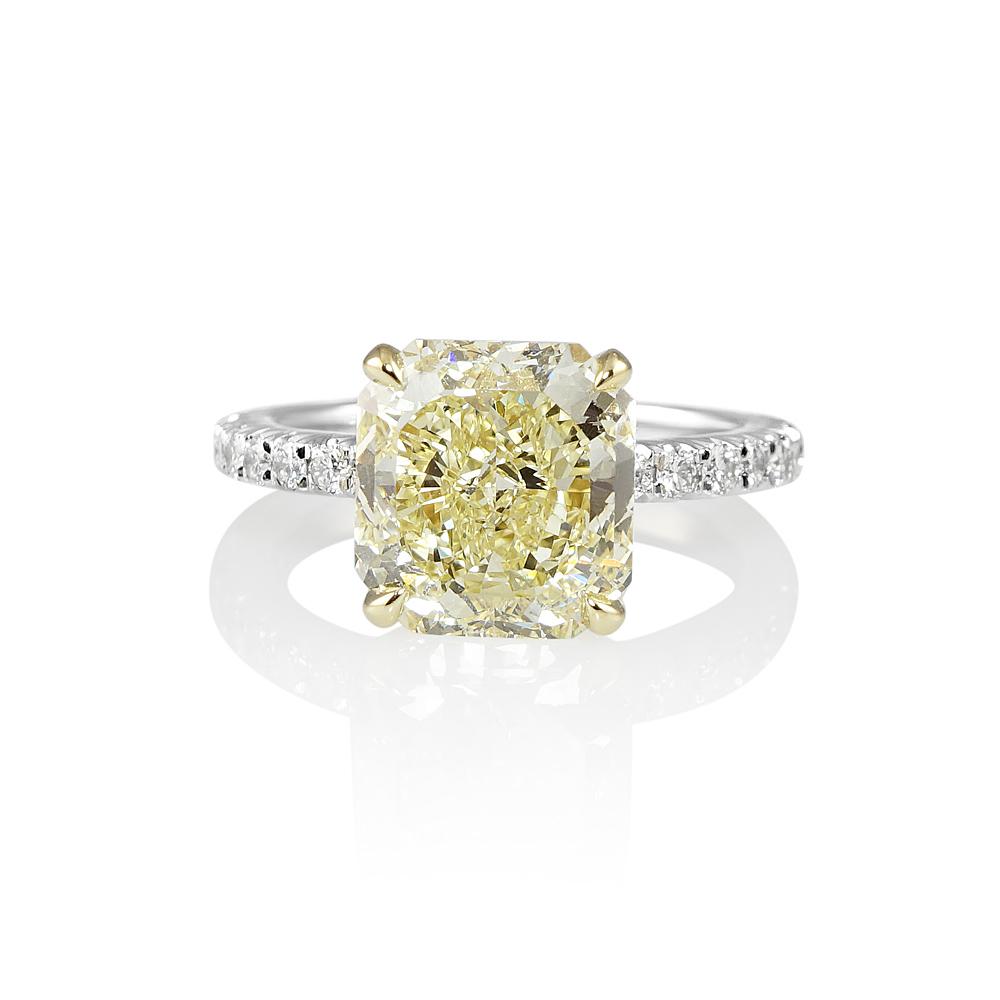 Tegan Fancy Yellow Diamond Engagement Ring Cynthia Britt