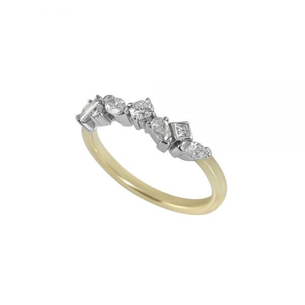 Carolyn Fancy Shaped Diamond Wedding Ring-2094