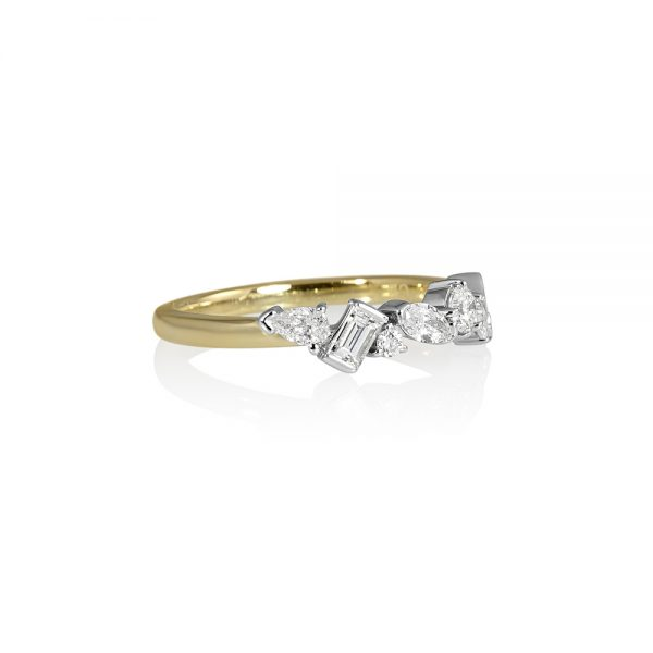 Carolyn Fancy Shaped Diamond Wedding Ring-2096