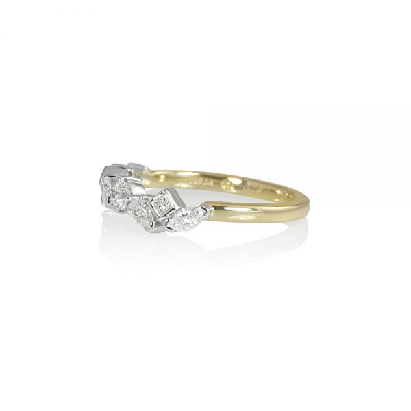 Carolyn Fancy Shaped Diamond Wedding Ring-2095
