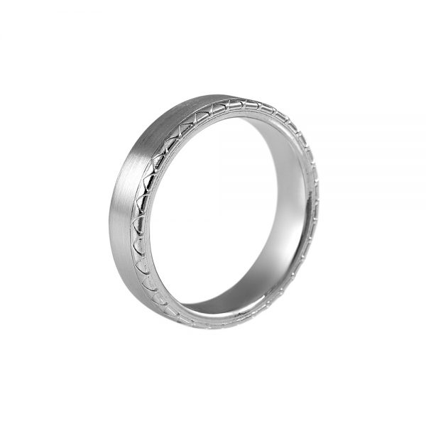 Christopher Men's Platinum Wedding Ring-2100