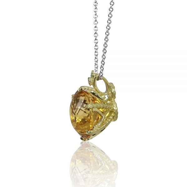 Denise Citrine Wheat Necklace-2079