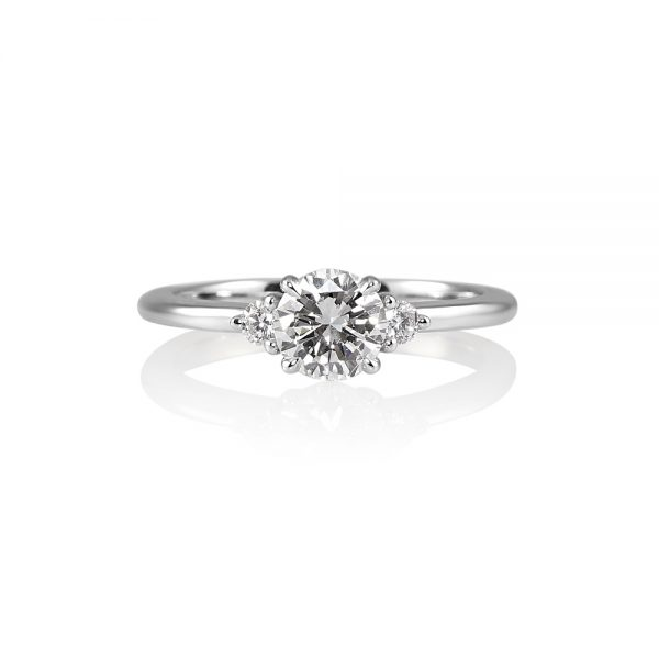 Ellyn Three Stone Diamond Engagement Ring-0