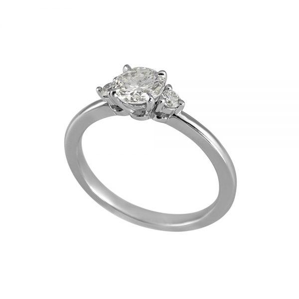 Ellyn Three Stone Diamond Engagement Ring-2107