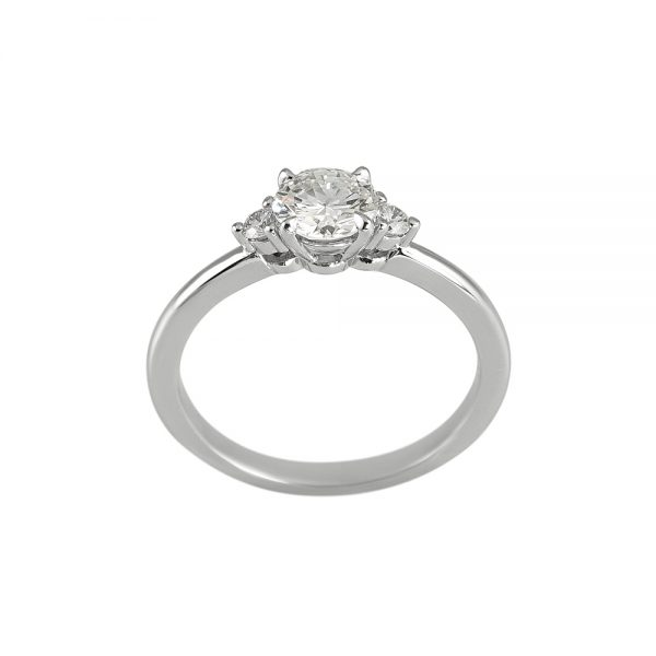 Ellyn Three Stone Diamond Engagement Ring-2105