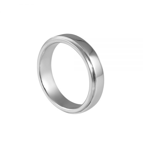 Joe Men's Platinum Wedding Ring-2102