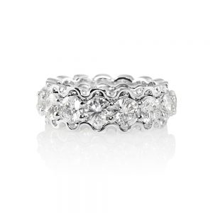 Kathryn Diamond Eternity Ring with Lacey Edge-0