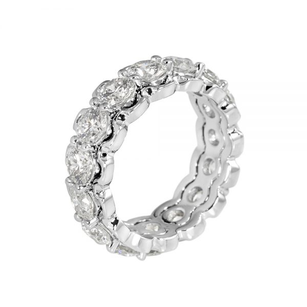 Kathryn Diamond Eternity Ring with Lacey Edge-2073