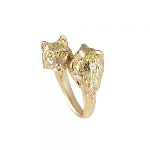 Rose Gold Wolf Ring for Stephanie-0