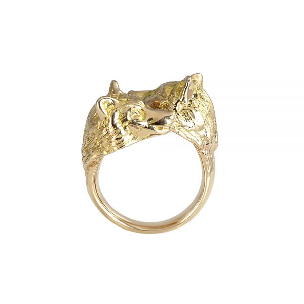 Rose Gold Wolf Ring for Stephanie-2088