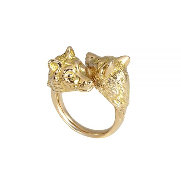 Rose Gold Wolf Ring for Stephanie-2089