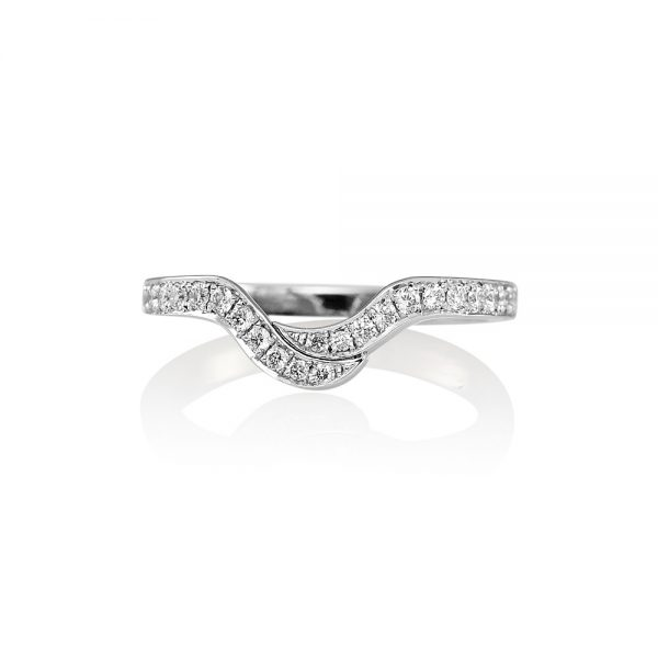 Leigh Curved Diamond Wedding Ring-0