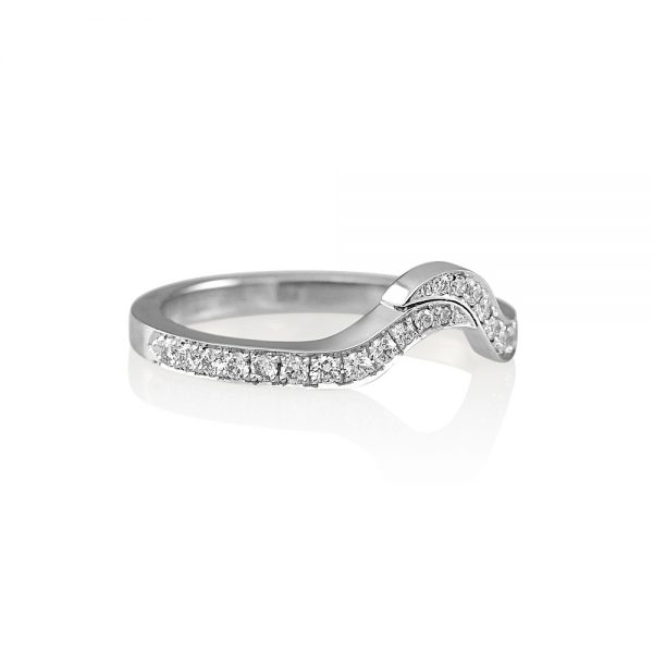 Leigh Curved Diamond Wedding Ring-2104