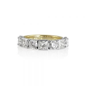 Lori Round and Princess Cut Wedding Ring-0