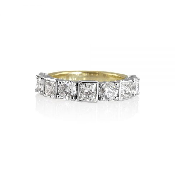 Lori Round and Princess Cut Wedding Ring-0