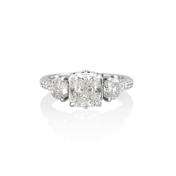 Adrienne Three Stone Engagement Ring-0