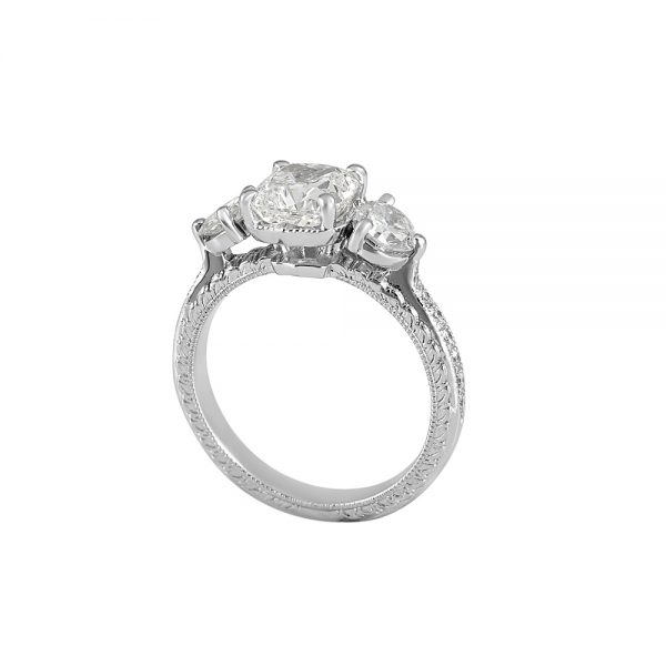 Adrienne Three Stone Engagement Ring-2115