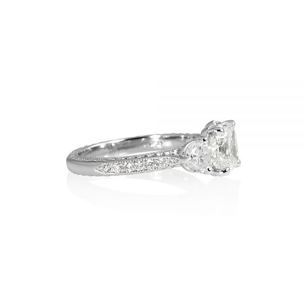 Adrienne Three Stone Engagement Ring-2116