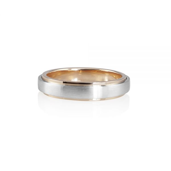 Tim Men's Rose Gold and Platinum Wedding Band-0
