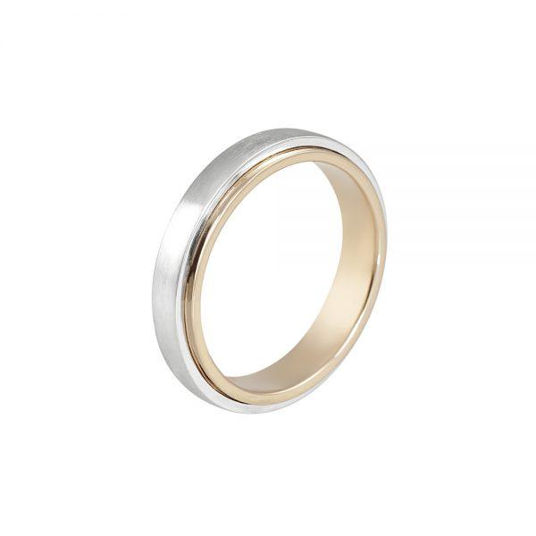 Tim Men's Rose Gold and Platinum Wedding Band-2132