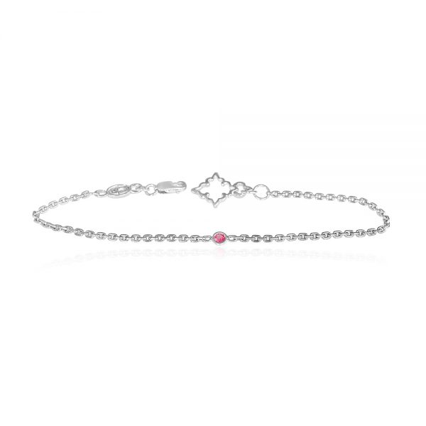 Cynthia Britt Signature Pink Spinel and Sterling Silver Bracelet-0