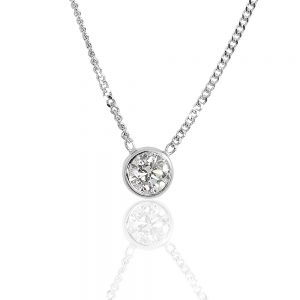 Solitaire Diamond Pendant-0