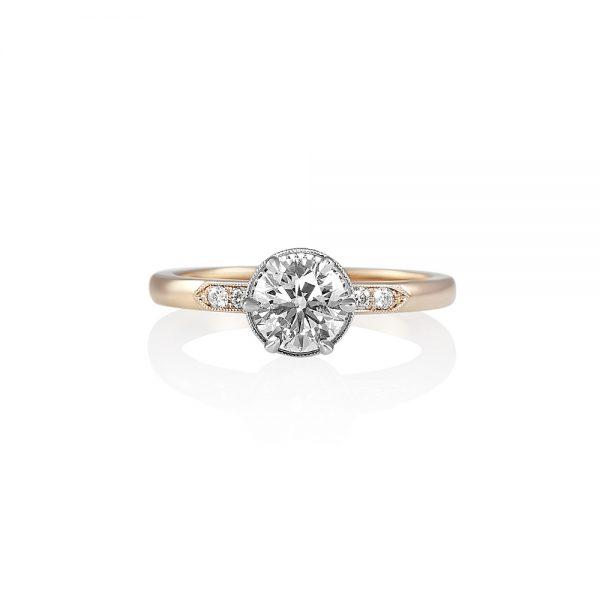 Gabi Rose Gold and Platinum Diamond Engagement Ring-0